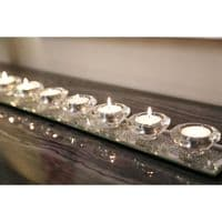 Merano Silver 9 Tealight Candle Holder